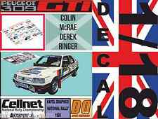 DECAL 1/18 PEUGEOT 309 GTI COLIN MCRAE NATIONAL RALLY 1988 (01)