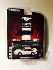 Greenlight 1987 Ford Mustang GT 50 Years 50th Anniversary Fox Body Hatchback