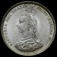 1887 Queen Victoria Jubilee Head Silver Shilling – UNC