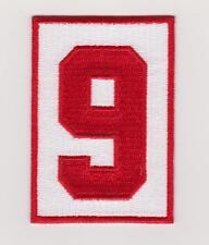 Gordie Howe Memorial Patch Detroit Red Wings '9' Road Jersey