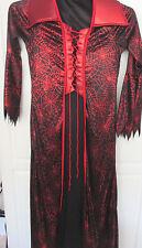 California Costume~ Blk Red VAMPIRESS Vampire Queen Halloween Costume~Girl Large
