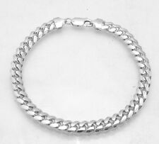 "8.5"" Solid Italian Tight Miami Cuban Bracelet Anti-Tarnish 925 Sterling Silver"