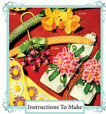 Vintage Crochet pattern-How to make vintage crochet flowers-daffodil,fuschia etc