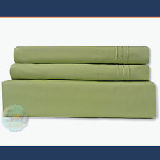 4 Piece Bed Sheet Set 1800 Series Deep Pocket Queen Size - Sage Color NEW