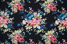 Floral Ponte Print #28 Double Knit Fabric Stretch Poly Lycra Spandex BTY
