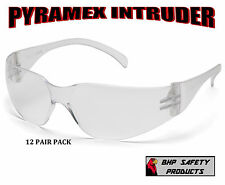 (12 PAIR) SAFETY GLASSES CLEAR LENS SPORT WORK EYEWEAR PYRAMEX INTRUDER S4110S