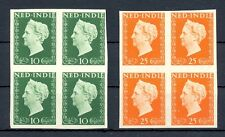 NED INDIE 1948 # 345/46  IMPERF PROOF 4 x -CERTIFICAAT-NO GUM AS ISSUED MOST VF