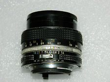 Nikon Nikkor 50 mm F 1.4  AI manual focus lens in good condition.
