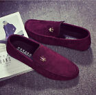 2016 Men's casual Moccasin slip suede Peas Shoes Driving Leather fashion