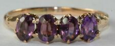 VICTORIAN ANTIQUE 14K GOLD .80 CARAT AMETHYST BAND RING SIZE 3.75