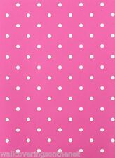 Pink & White Polkadot Featurewall Wallpaper
