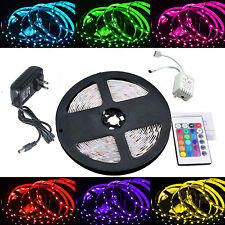 US 300 LED RGB Color Changing Strip Light Kit w/ Remote & Power Supply, 5M/16FT