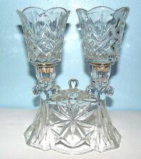 Vintage Candelabra CANDLE HOLDER Centerpiece Crystal Candleholder Glass Votives