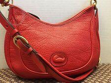 *Vintage Dooney & Bourke*RED*P82 Crescent Sac*Satchel*Shoulder Bag*Purse#16062o