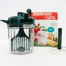Vintage Retro Salad Dressing Maker Vegetable Cutter Chopper