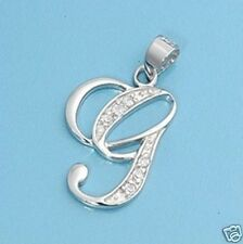Initial CZ Pendant Sterling Silver 925 Best Price Letter Alphabet Jewelry Gift G