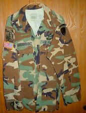 US Army Woodland Camo, Large Regular, Staff Sgt, Special Forces & Psy Ops