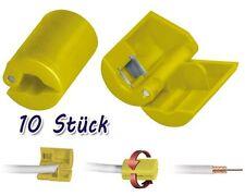 10x Aislante para cable coaxial 6,8-mm de antena conector-F Sat Herramienta TV