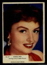 (Gg288-348) Kane, Film Stars, Grey Plain Back, #55 Donna Reed 1958 VG