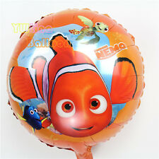 "18"" 44cm Nemo round foil balloon Finding Dory Squirt Turtle Clownfish Blue Tang"