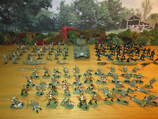 25FP LOT OF 109 PAINTED 1/72 PLASTIC BRITISH COMMANDOS & ANZACS +DIECAST SHERMAN