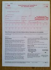 2010 IRS Tax Form 1096 Annual Summary and Transmittal (for 1099's to IRS)