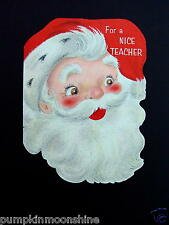 #G807- Vintage Unused Xmas Greeting Card An Old Fashioned Santa in Full Glitter