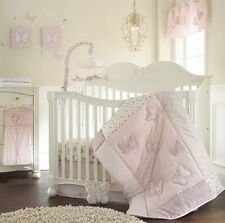 Laura Ashley Baby Bella 11-Pc Crib Bedding Set Include Bumper/Valance/Blankets++