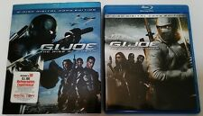 G.I. JOE: THE RISE OF COBRA BLU RAY 2 DISC SET WITH RARE SLIPCOVER FREE SHIPPING