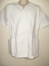 White with twin buttons Uniform tunic Beautician  NHS Salon or Chef etc Size  22