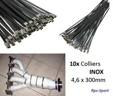 10 COLLIERS INOX BANDE THERMIQUE ECHAPPEMENT RENAULT MEGANE 2 II RS
