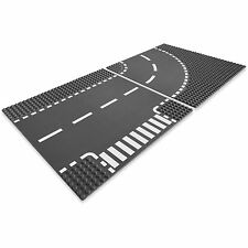 LEGO City Base Street Road T-Junction and Curve 32 x 32 Platforms, Gray | 7281