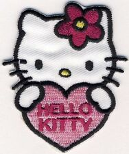 HELLO KITTY mit Herz - Aufnäher Aufbügler Applikation Patch Badge - OVP #9157