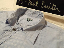 """PAUL SMITH Mens Shirt �� Size XL (CHEST 44"""") �� RRP £95+ �� SWIRLING POLKA DOTS"""