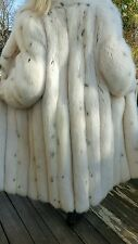 White Fox Spotted Fur Coat,Size L