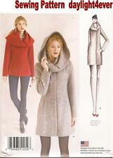 Women Easy Lined Coat or Jacket Sewing Pattern 1254 Simplicity j New Size 14-22