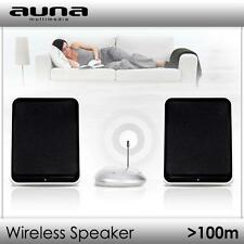 DESIGN FUNK LAUTSPRECHER WIRELESS BOX SET WANDMONTAGE UHF SPEAKER SYSTEM 400W