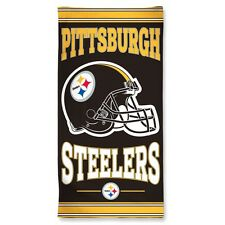 Pittsburgh Steelers 30x60 Fiber Reactive Beach Towel Authentic NFL Hologram NWT