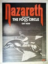 NAZARETH The Fool Circle 1981 UK Poster size Press ADVERT 16x12""