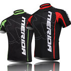 Merida Bike Jersey Men's Cycling Jersey Full Zip Bicycle Shirt Jersey Green Red