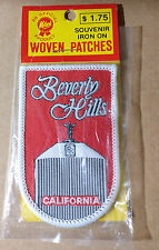 "COLLECTABLE SOUVENIR IRON ON WOVEN PATCHES 2"" W X 3"" H BEVERLY HILLS CALIFORNIA"