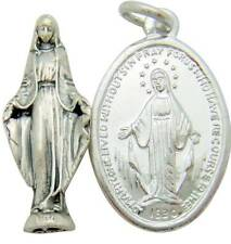 "MRT Miraculous Pocket Saint Statue & Medal Catholic Gift Set Alloy 1"" Italy"