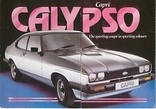 Ford Capri Mk 3 Calypso 1981 Original UK Sales Brochure Pub. No. FA514