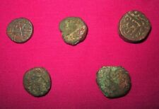 Ancient Copper Old Original Indian Islamic Mughal Period 5 Piece Coins