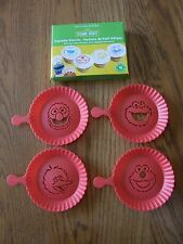 Williams Sonoma Sesame Street Cupcake Stencils-Cookie Monster,Elmo,Big Bird-New