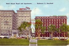 HOTEL MOUNT ROYAL and APARTMENTS. BALTIMORE, MD 1949