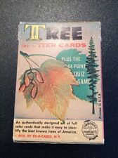 VINTAGE ED-U-CARD TREE SPOTTER IDENTIFICATION CHILDS  DECK PLAYING CARDS GAME