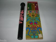 Vintage 60s 70s Retro INCENSE Colorful Graphics~Incense Sticks Holder Tube Case
