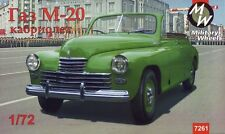 "Military Wheels 1/72 GAZ-M20 ""Pobeda"" cabriolet, Soviet Car # 7261"