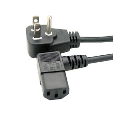 6ft 1.8m Flat USA 3pin plug to right angle IEC 320 C13 Power cord for PC LCD